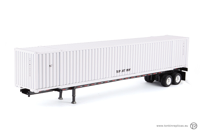 Container 53ft + Trailer White