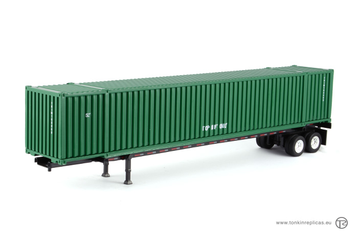 Container 53ft + Trailer Green