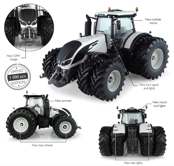 Valtra S394 met Dubbellucht Wit - Limited Edition