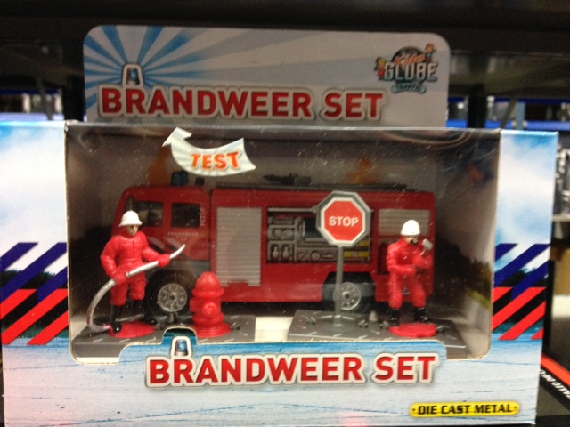 DCPB Brandweer Tankautospuit met Accessoires Light and Sound