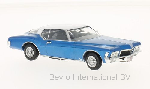 Buick Riviera Coupe 1972 Blauw Metallic/Wit
