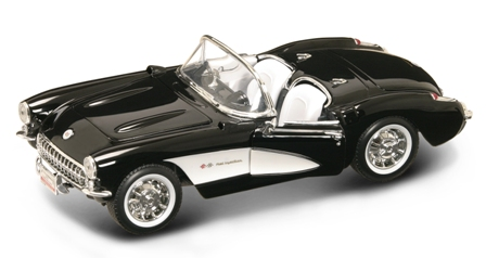 Chevrolet Corvette Convertible 1957 Zwart